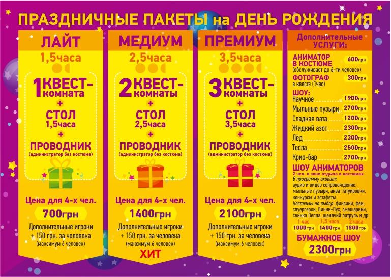 Kids-sayt_ceny Детский День Рождения в Харькове